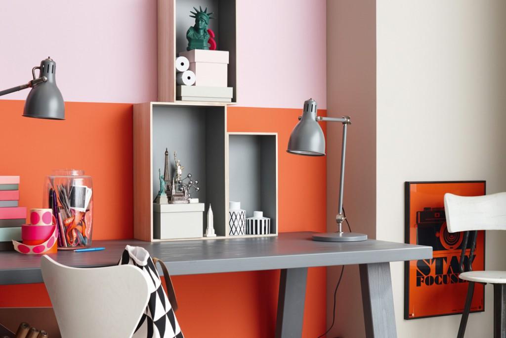 das zusammenspiel aus coral mit den trendfarben malve und moon unterstreicht die. Black Bedroom Furniture Sets. Home Design Ideas