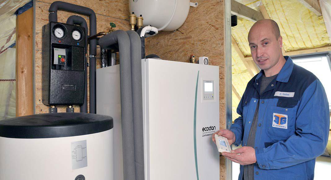 Wärmepumpe erzeugt umweltfreundlich und effizient Energie.