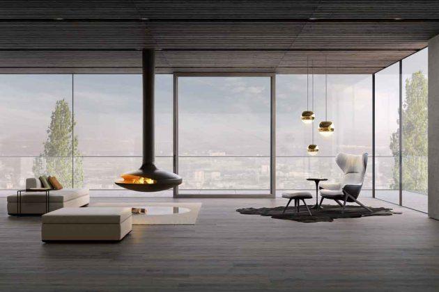 Bodentiefe Eckverglasung mit hochwertigen Fenstern