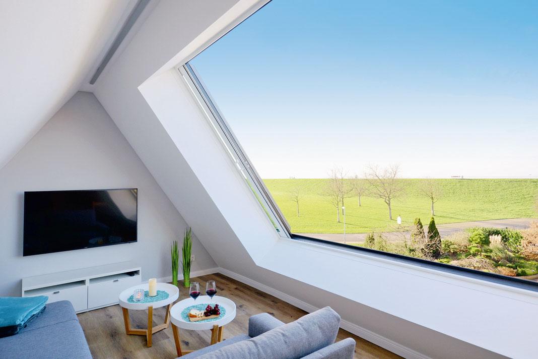 Schiebedachfenster erlauben besonders großzügige Ausblicke und können nachgerüstet werden.