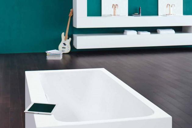 Das Soundsystem bietet die Möglichkeit Musik über Tablatt, Smartphone oder Computer während des badens abzuspielen.