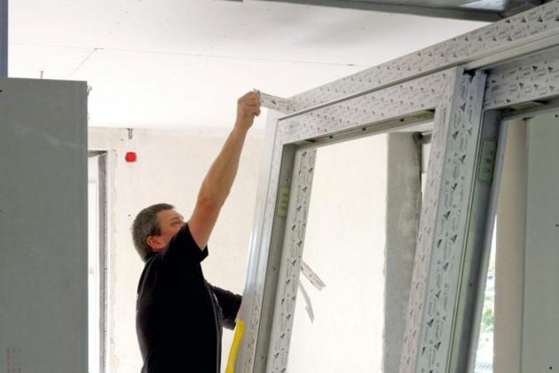 Kunstsotfffenster und Hebe-Schiebe-Tür