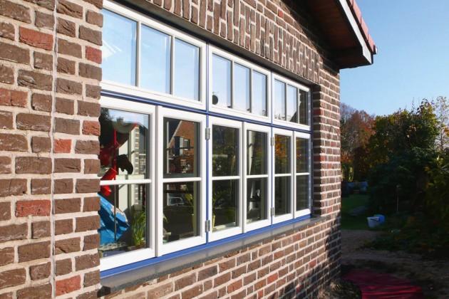 Warmfenster mit 3-fach-Verglasung und doppelter Dichtungsebene.