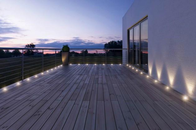Hochleistungs-LEDs sorgen im Außenbereich für hohe Lichtausbeute.