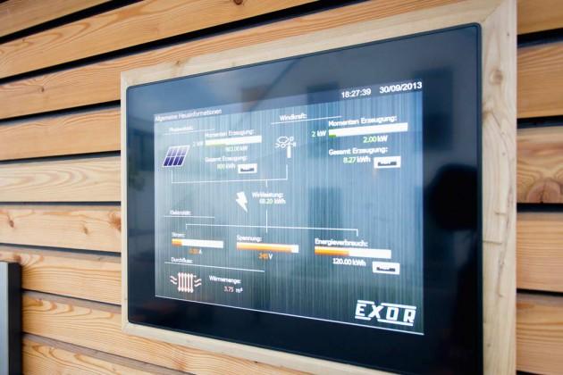 intelligente, komfortable Steuerung der komplexen Haustechnik und der Stromverteilung