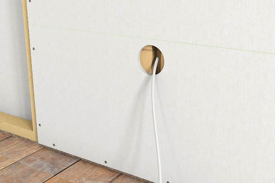 Wand im baukasten system w nde selbst errichten livvi de - Kabel durch wand bohren ...