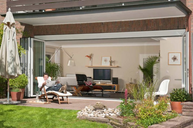 Fenster- Renovierung sind Glas-Faltwände eine gute Alternative