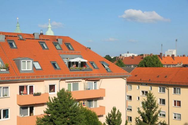 Terrasse der Dachgeschosswohnung