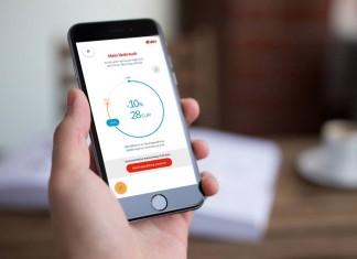 Mit E.ON App Energie sparen.