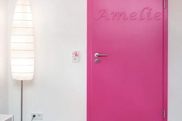 Pinke Zimmertür