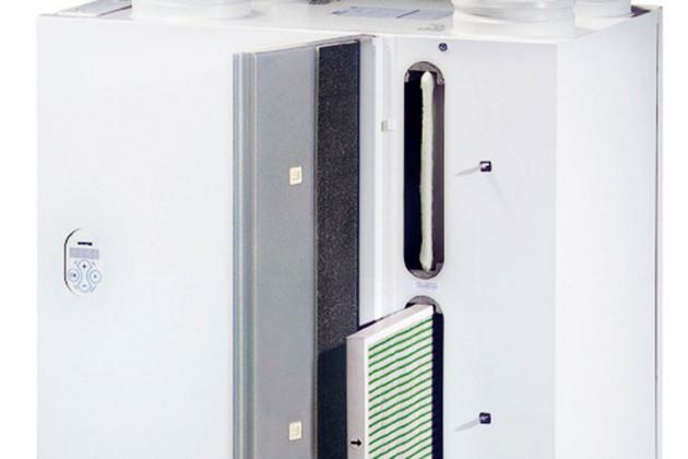 Zentrales Lüftungsgerät mit integriertem Wärmetauscher