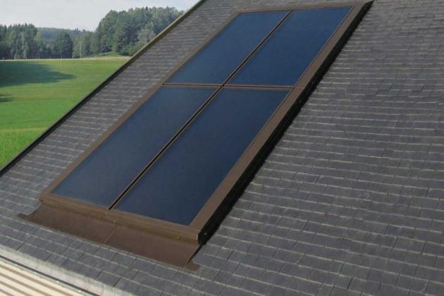 Wird mit dem Einbau der Solaranlage auch das Dach erneuert, bietet sich eine optisch ansprechende Integration der Kollektoren in die Eindeckungsebene an.