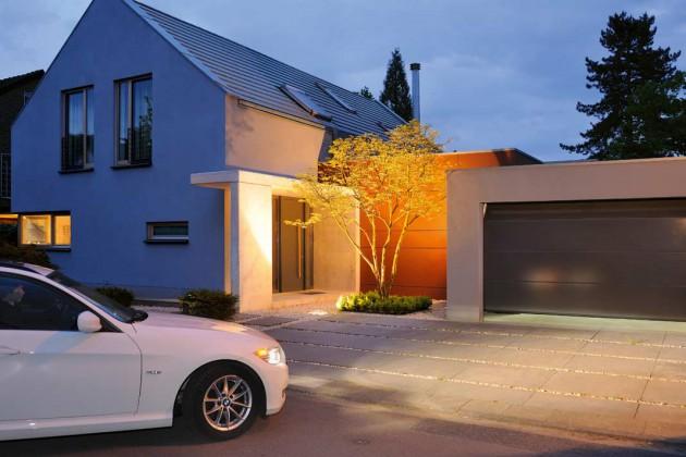 Haustür und Garage aufeinander abstimmen