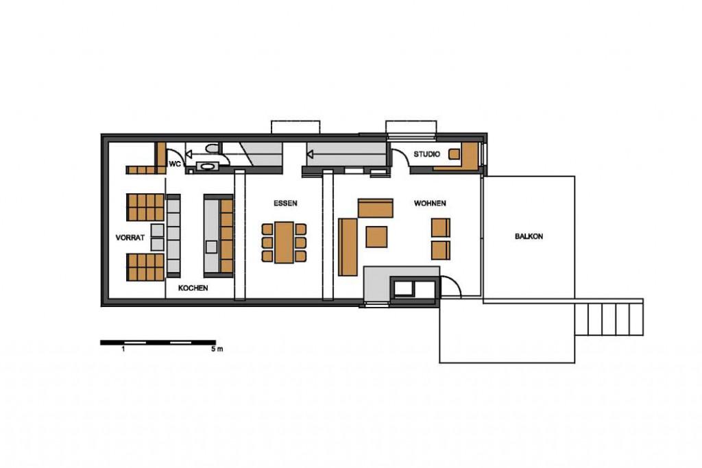 Bauplan Hanghaus