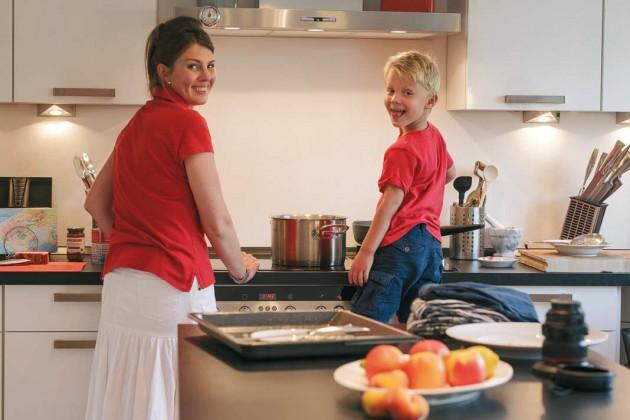 Großzügig geschnittene Küche