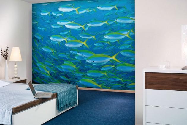 Foto Tapete mit Fischen