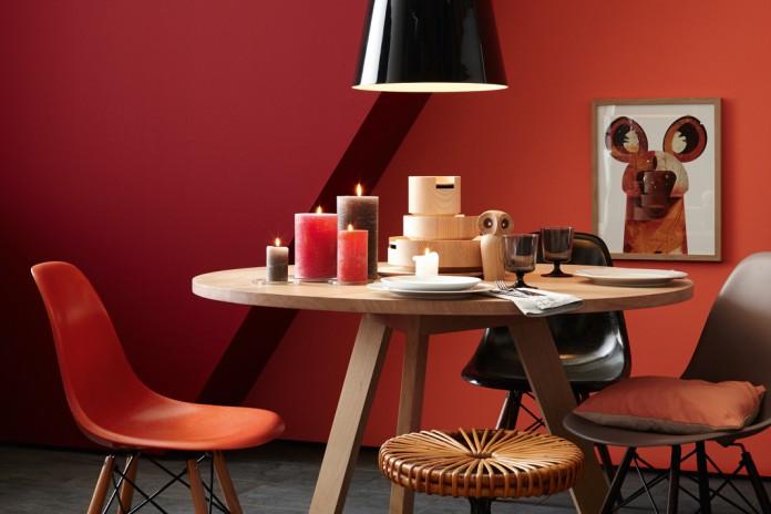 Rot Und Orange Wandfarbe Mit Viel Energie Und Emotionen Livvi De