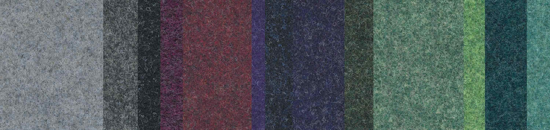 Nadelvlies ist ein extrem strapazierfähiger textiler Belag aus vernadelten Synthetikfasern – für hoch beanspruchte Bereiche. Foto: Armstrong