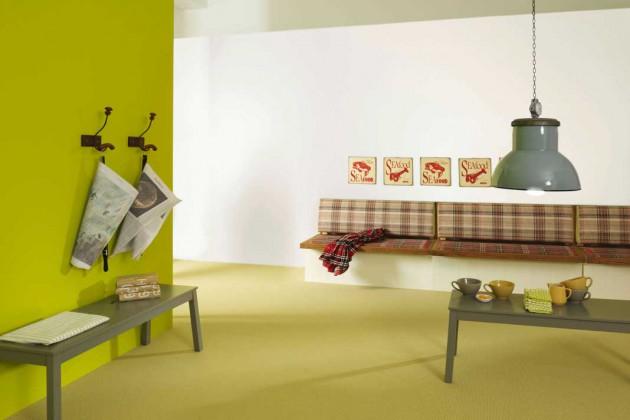 """Produkte der Teppichbodenserie """"Projection"""" sind schadstoff- und feinstaubgeprüft."""