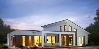 Wer auf der Suche nach einem außergewöhnlichen Wohngefühl ist und die Freiheit hoher Räume und großer Glasflächen zu schätzen weiß, wird sich in diesem großzügig geschnittenen Bungalow mit Sicherheit wohlfühlen.