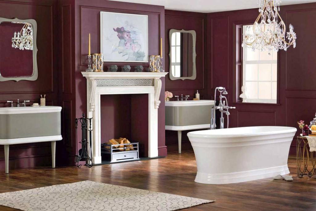 Retro-Trend: Organische, weiche Formgebungen lösen zunehmend den strengen Purismus ab, die Badewanne steht – wo immer möglich – frei im Raum. Foto: Victoria+Albert