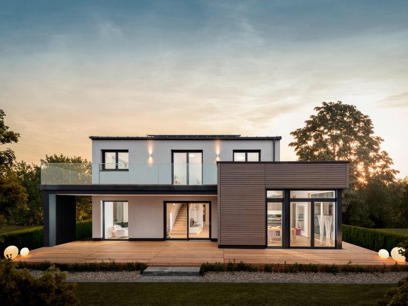 Kubushaus mit Satteldach