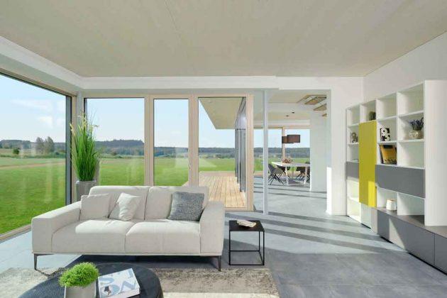 Wohnzimmer mit Panorama