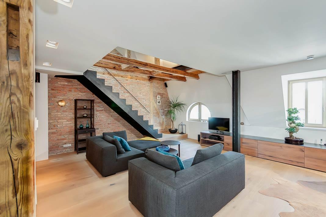 Moderner Wohnkomfort in alten Mauern.