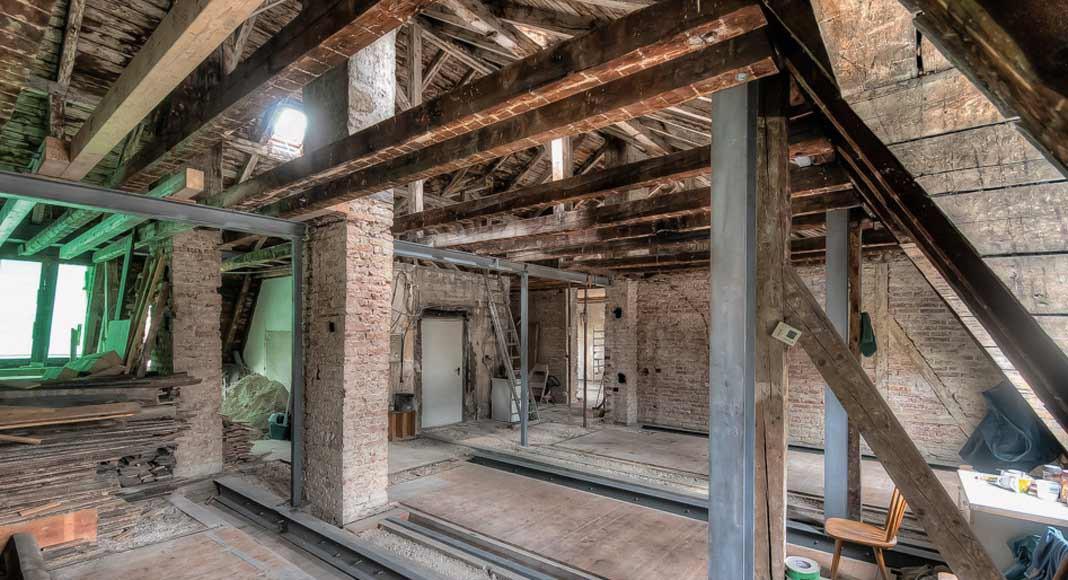 Überall, wo es technisch möglich war, wurde die Bausubstanz ausgebaut, aufbereitet und wiederverwendet.