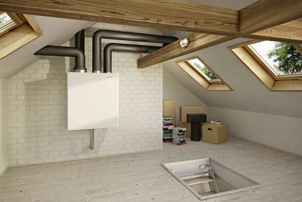 """Mit dem """"LivingAir LAB"""" bzw. """"LivingAir LAK 300"""" können auch kleinere Wohneinheiten komfortabel und energiesparend kontrolliert belüftet werden. Foto: Brötje"""