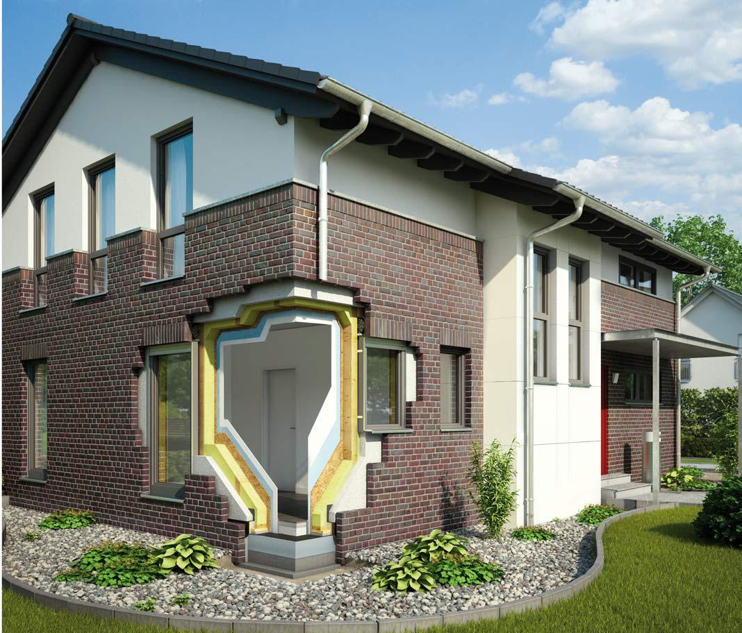 mit der zweischaligen wand von gussek haus den energiebedarf senken livvi de. Black Bedroom Furniture Sets. Home Design Ideas