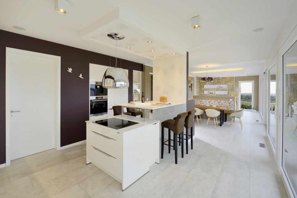 Einfamilienhaus-Special: Kochen, Essen und Wohnen gehen hier nahtlos ineinander über.