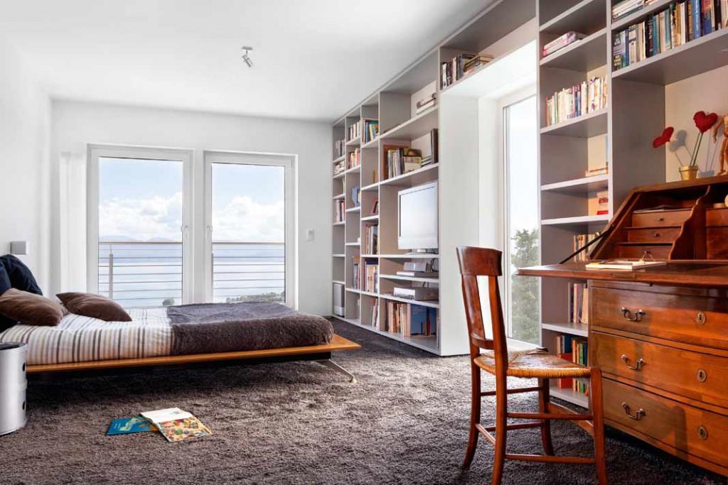 Schlafzimmer, Arbeitszimmer, Bibliothek – die attraktiven Räume lassen sich flexibel und immer wieder anders nutzen.
