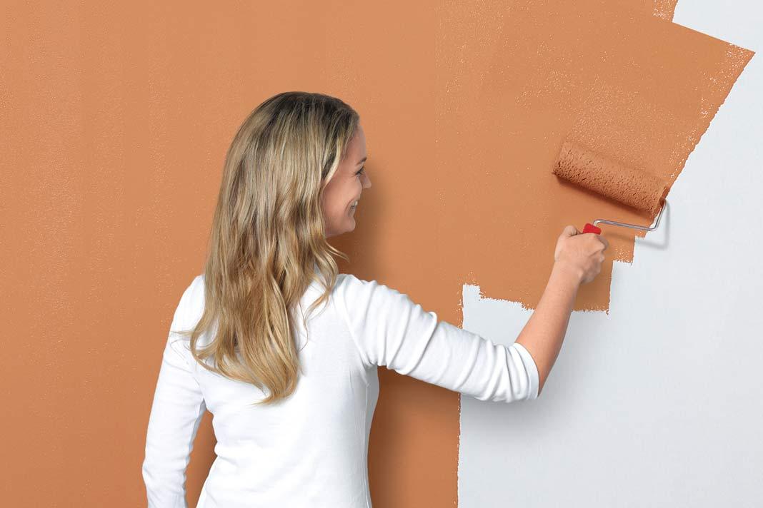 Streichen der Wand