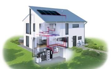 Grafik eines Energiehauses