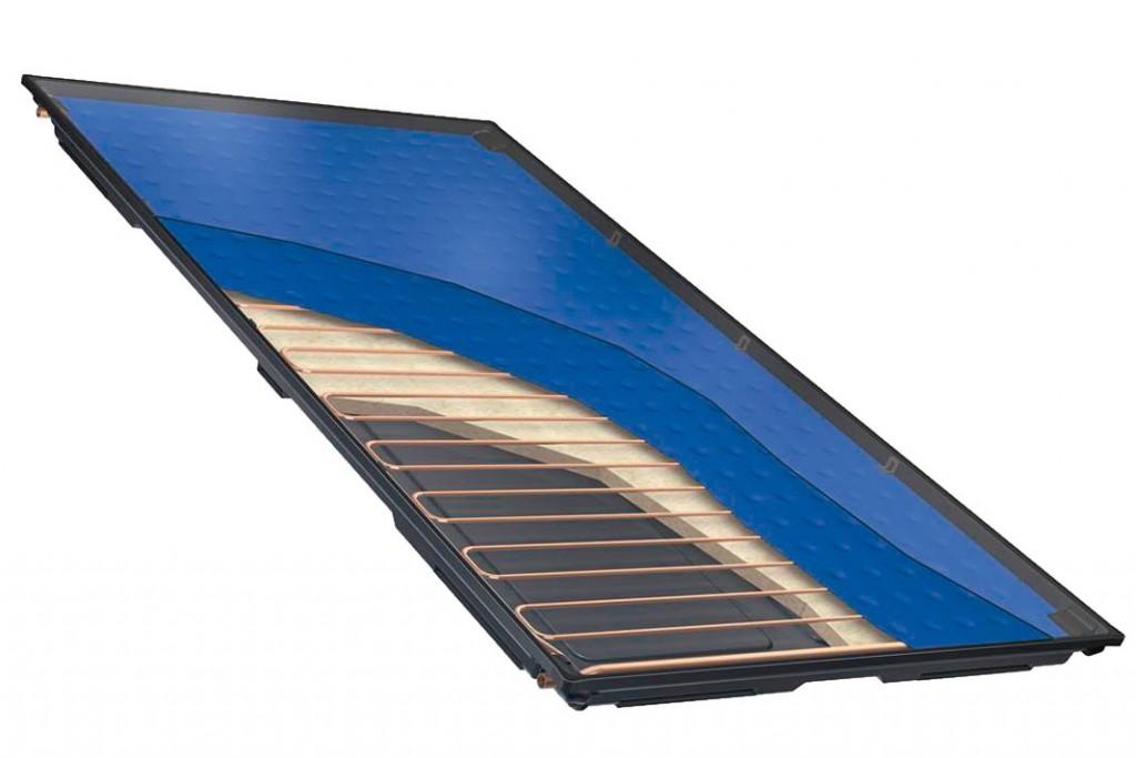 """Hochleistungs Flachkollektor """"Logasol SKT"""" dient vorzugsweise der solaren Trinkwassererwärmung und Heizungsunterstützung.."""
