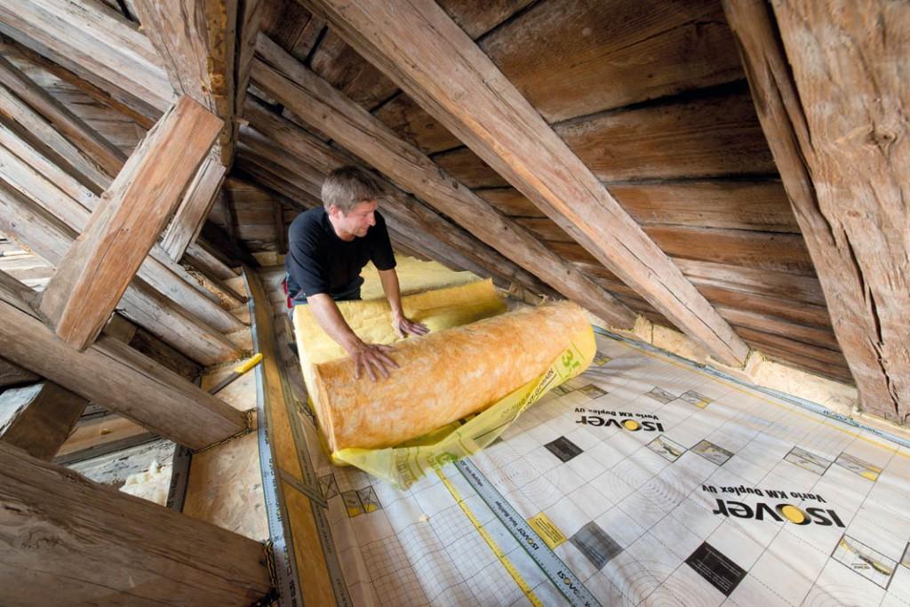 Beim nicht genutzten Dachgeschoss reicht Dämmung der obersten Geschossdecke.