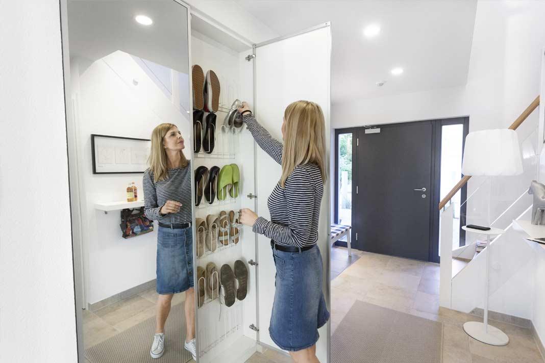 Schuhschränke mit Spiegeltüren