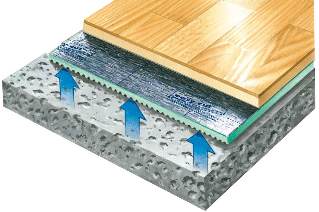 """Die praktische Parkett- und Laminatunterlage """"Selitac"""" sorgt nicht nur für eine Reduzierung des Geh- und Trittschalls in den Räumen, sondern funktioniert auch als Wärmedämmung bei fußkalten Böden."""