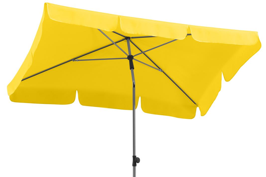 Sonnenschirm in der neuen Trendfarbe Gelb. Foto: Wayfair