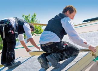Feuchte geschützte Dachdämmung.