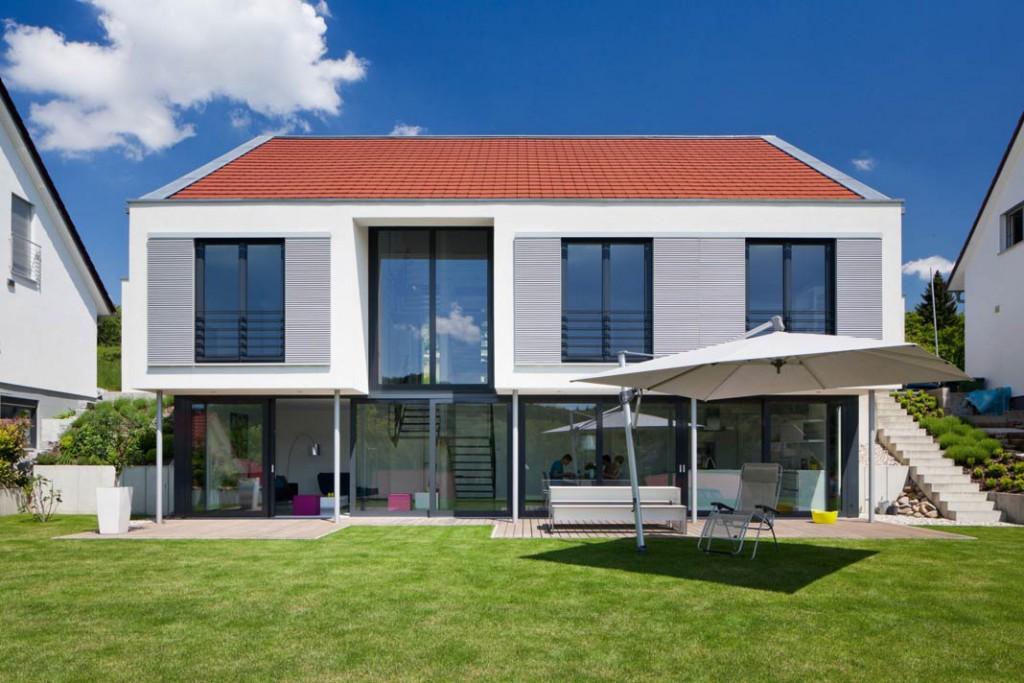Das Traumhaus von Familie Weik in Bruchsal lässt viel Licht in alle Räume.