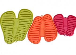 Schuhmatte in fröhlichen Farben zum Abtropfen schmutziger Schuhe