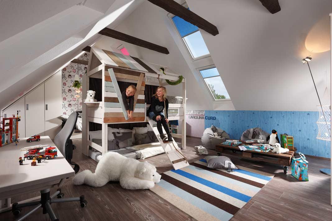 Ein beachtliches Ausbaupotenzial bieten Dächer mit steiler Neigung und einem soliden Dachstuhl.