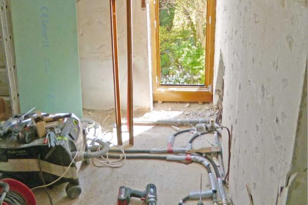 Die Idee mit den bodentiefen Fenstern hatte Ulf Hohenacker.