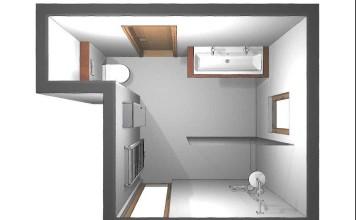 Die alte Wanne wich einer XXL-Dusche, das WC wurde in die ehemalige Dusch- Nische platziert, die Fenster bodentief verlängert.