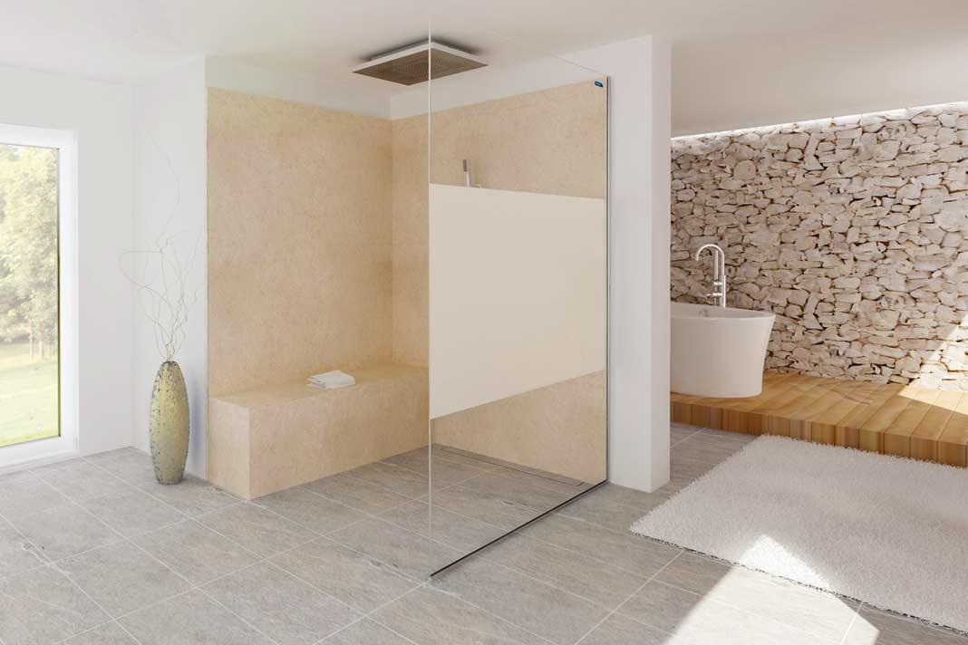 ganz ohne zustzliche traverse kommt die duschabtrennung air aus - Duschkabine Badewanne Mehr Praktisch Und Komfortabel