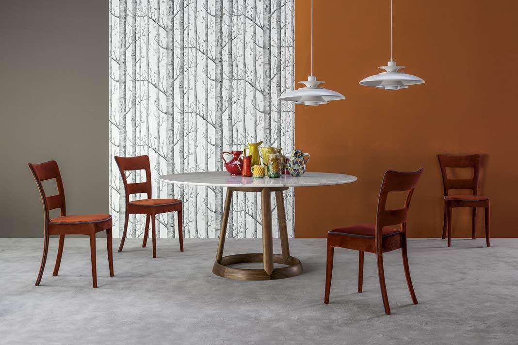 """Tisch """"Greeny"""" gibt's mit runder oder ovaler Platte"""