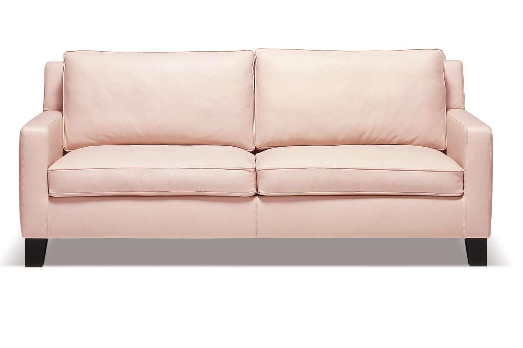 """Sofa der """"Palais""""-Serie mit erfrischend einfacher Formensprache im trendigen Altrosa."""