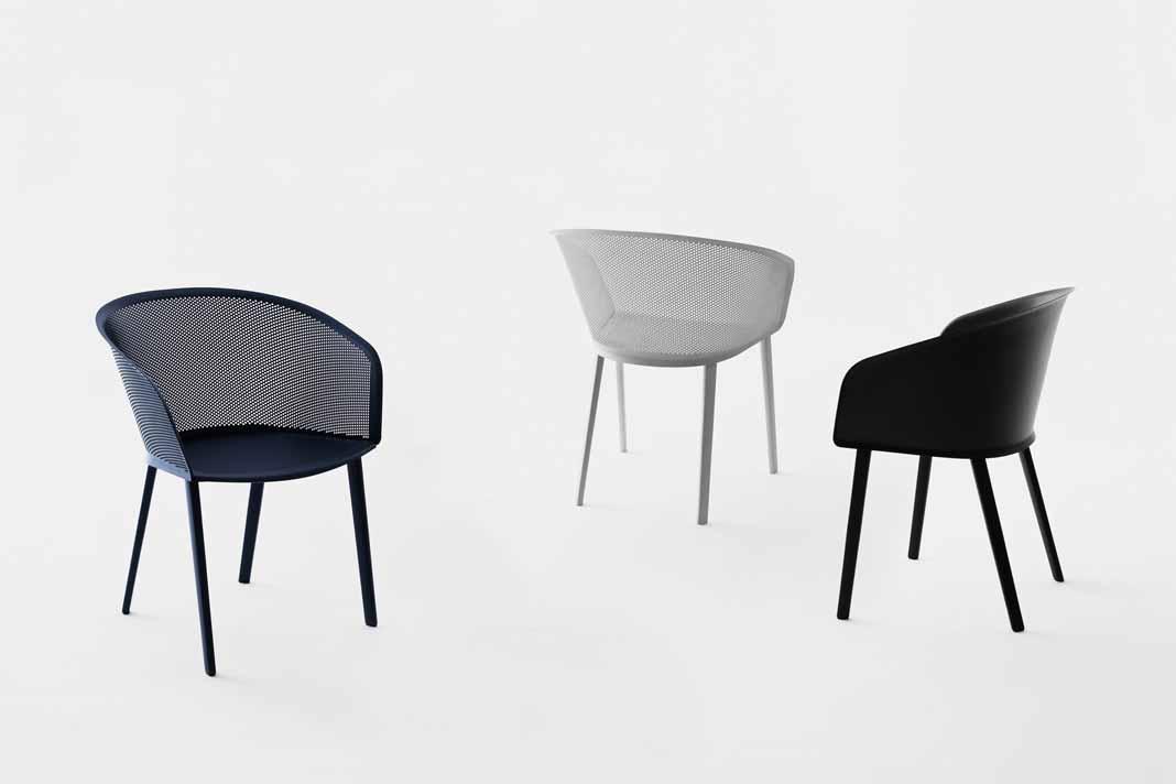 """""""STAMPA"""" Armlehnstuhl für den Outdoorbereich, Gestell Aluminium."""
